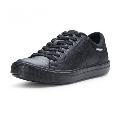 Jack & Jones Men's Mervin Low PU Leather Shoes Shoes Anthracite | Jean Scene