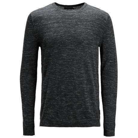 Jack & Jones Crew Neck Cotton Grow Jumper Dark Grey | Jean Scene