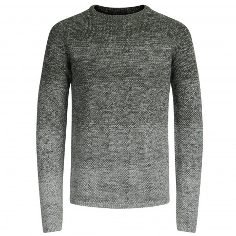Jack & Jones Crew Neck Cotton Fuel Jumper Forest Night | Jean Scene
