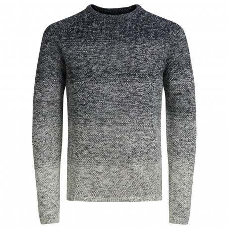 Jack & Jones Crew Neck Cotton Fuel Jumper Total Eclipse | Jean Scene