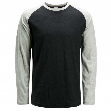 Jack & Jones Originals Crew Neck Stan Raglan Long Sleeve T-shirt Tap Shoe | Jean Scene