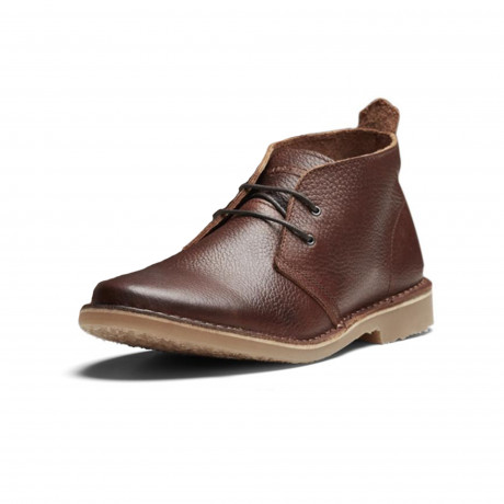 Jack & Jones Mens High Leather Gobi Desert Boots Brown Stone Shoes | Jean Scene