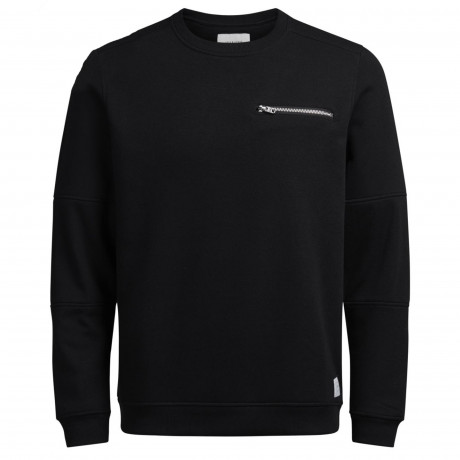 Jack & Jones Crew Neck Men's Pete Sweatshirt Black | Jean Scene