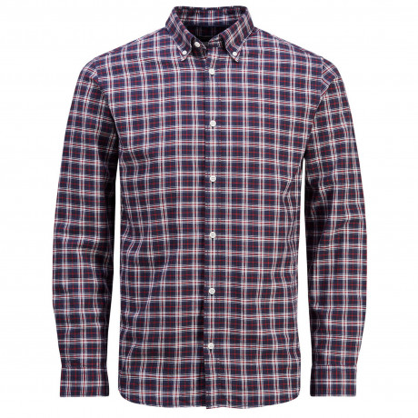 Jack & Jones Premium Frisk Check Long Sleeve Shirt Jester Red