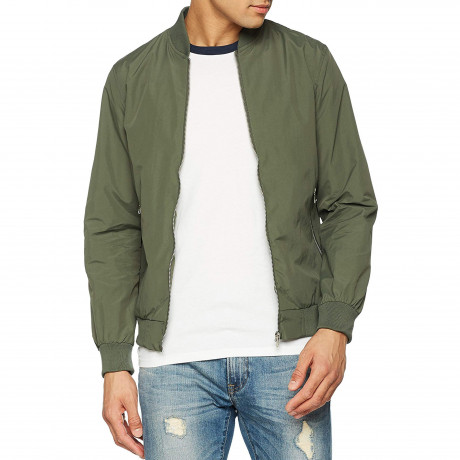 Jack & Jones Light Bomber Jacket Thyme Green | Jean Scene