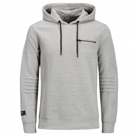 Jack & Jones Overhead Men's Pat Hoodie Light Grey | Jean Scene