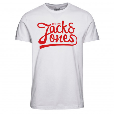 Jack & Jones Originals Crew Neck Traffic Print T-shirt White | Jean Scene