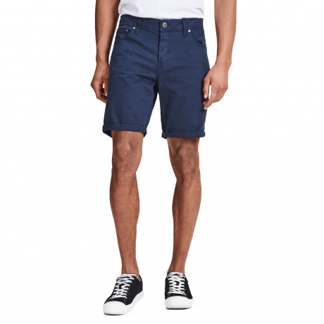 Jack & Jones Men's Rick Chino Stretch Shorts Black Iris | Jean Scene