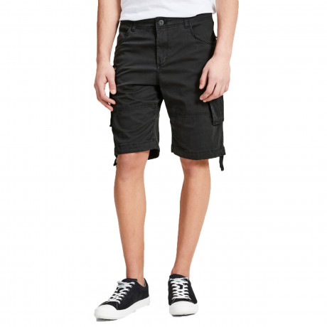 Jack & Jones Men's Intelligence Cargo Shorts Black | Jean Scene