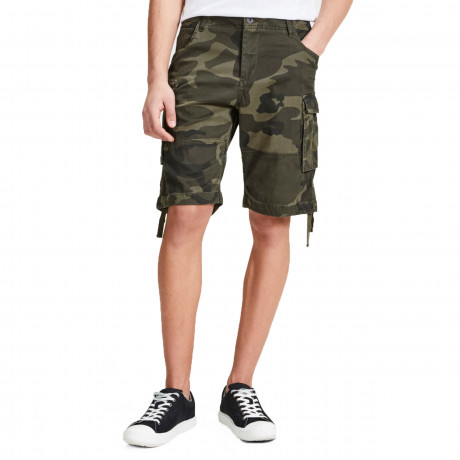 Jack & Jones Men's Intelligence Cargo Shorts Forest Night | Jean Scene