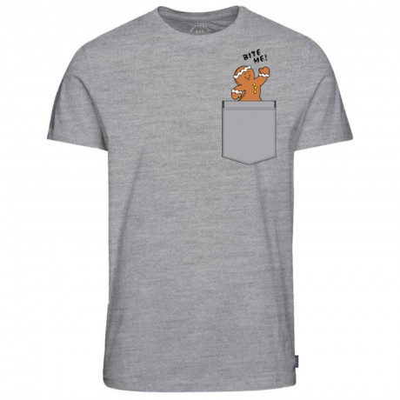 Jack & Jones Crew Neck Chimney Pocket Christmas Print T-shirt Light Grey   Jean Scene