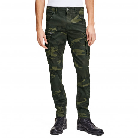 Jack & Jones Paul Chop Fit Cargo Combats Green | Jean Scene