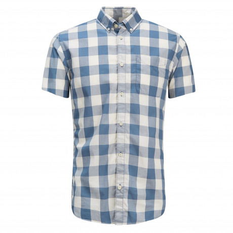 Jack & Jones Originals Regular Boise Short Sleeve Shirt Cloud Dancer | Jean Scene