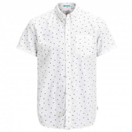 Jack & Jones Originals Regular Cambridge Short Sleeve Shirt Cloud Dancer | Jean Scene