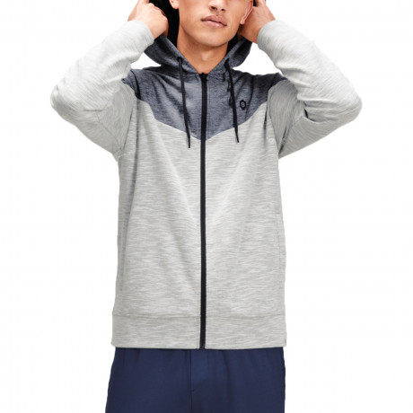 Jack & Jones Zip Up Men's Chevron Hoodie White | Jean Scene