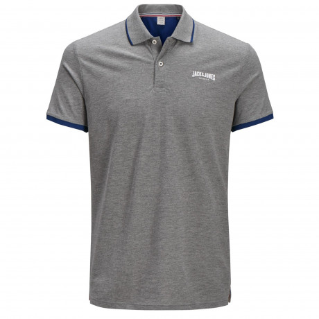 Jack & Jones Original Retro Polo Shirt Light Grey | Jean Scene
