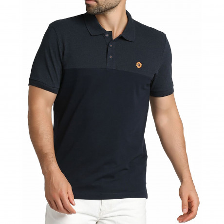 Jack & Jones Core Block Polo Shirt Sky Captain | Jean Scene