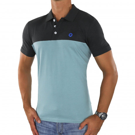 Jack & Jones Core Block Polo Shirt Tourmaline | Jean Scene