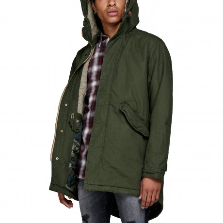 Jack & Jones Men's Bento Parka Jacket Forest Night | Jean Scene