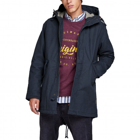 Jack & Jones Men's Bento Parka Jacket Total Eclipse | Jean Scene