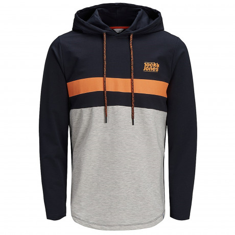 Jack & Jones Overhead Men's Loop Hoodie Sky Captain | Jean Scene
