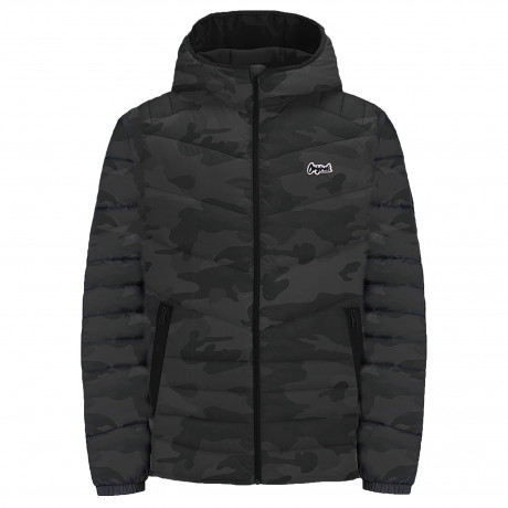 Jack & Jones Light Puffer Jacket Asphalt Camo | Jean Scene