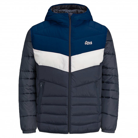 Jack & Jones Light Puffer Jacket Estate Block | Jean Scene
