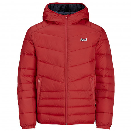 Jack & Jones Light Puffer Jacket Scarlet | Jean Scene