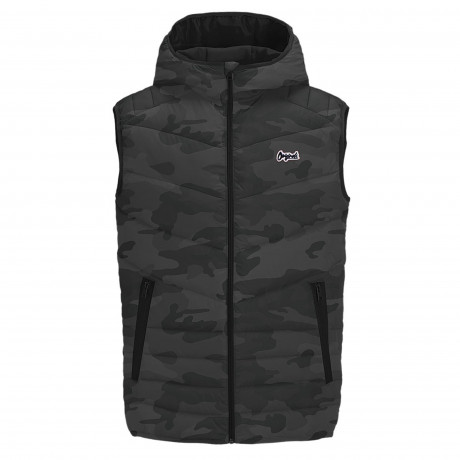 Jack & Jones Light Puffer Gilet Asphalt Camo | Jean Scene