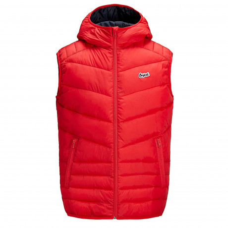 Jack & Jones Light Puffer Gilet Scarlet | Jean Scene