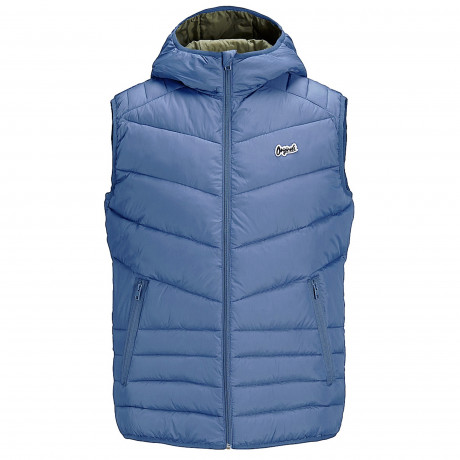 Jack & Jones Light Puffer Gilet Vintage Blue | Jean Scene