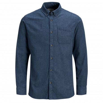 Jack & Jones Originals Regular Chris Long Sleeve Shirt Total Eclipse | Jean Scene