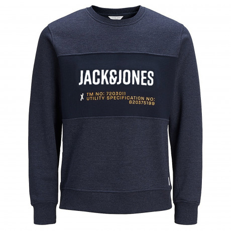 Jack & Jones Crew Neck Men's Port Sweatshirt Sky Captain | Jean Scene