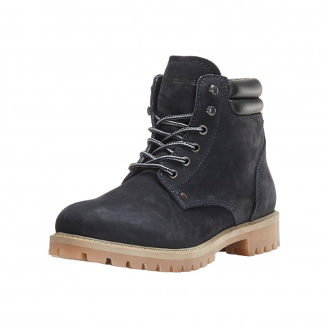 Jack & Jones Mens High Warm Nubuck Stoke Boots Navy Blazer Shoes | Jean Scene