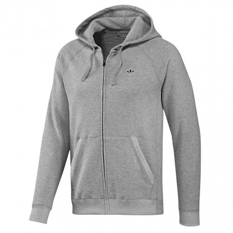 adidas Originals Hooded Sweatshirt Top Grey Image