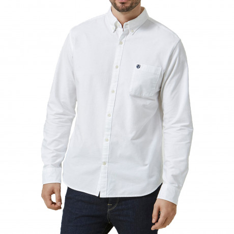 Selected Slim Collect Long Sleeve Shirt White | Jean Scene