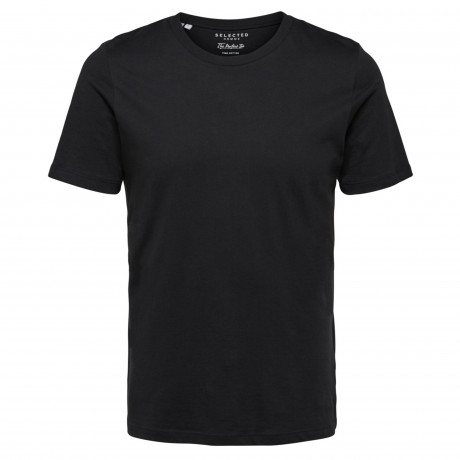 Selected Crew Neck Perfect T-shirt Black | Jean Scene
