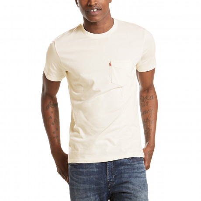 Levis Setin Sunset Men's T-Shirt White Smoke   Jean Scene