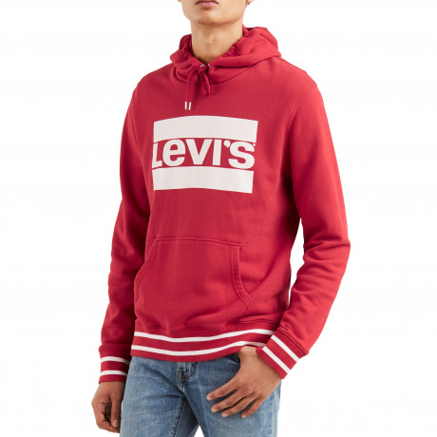 Levis Overhead Logo Hoodie Rib Crimson | Jean Scene
