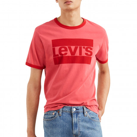 Levis Ringer Sportswear Men's T-Shirt Aura Orange | Jean Scene