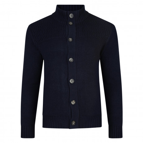 Kensington Eastside Men's Tramore Knit Cardigan Dark Navy | Jean Scene
