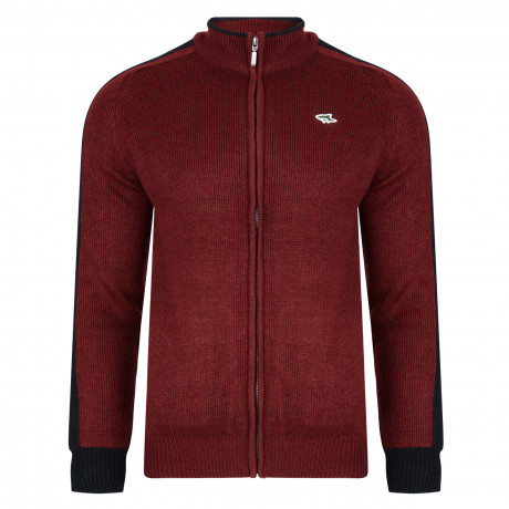 Le Shark Men's Pantani Knit Cardigan Oxblood | Jean Scene