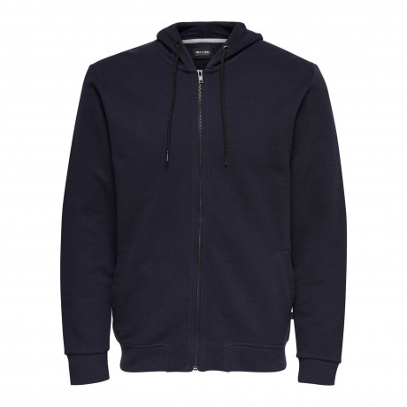 Only & Sons Finlo Men's Zip Up Hoodie Navy Blue | Jean Scene