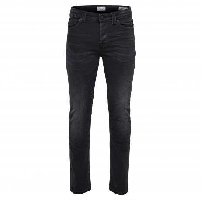 Only & Sons Warp Skinny Fit Denim Jeans 7013 Black   Jean Scene