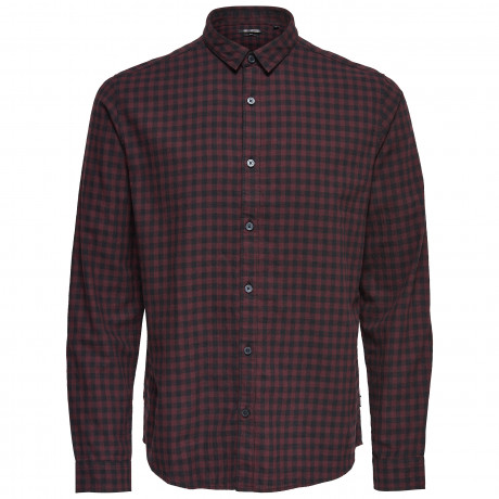 Only & Sons Originals Slim Gordey Long Sleeve Shirt Fudge | Jean Scene