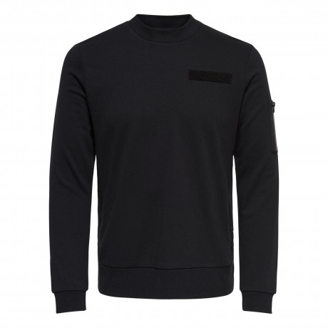Only & Sons Crew Neck Colin Sweatshirt Black | Jean Scene