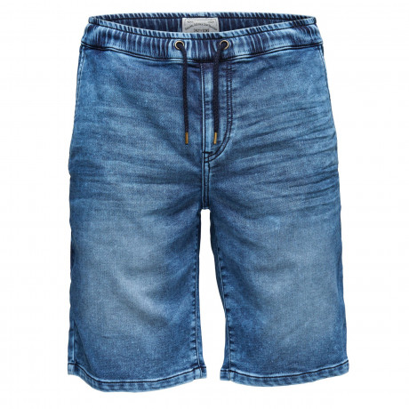 Only & Sons Men's Linus Denim Jog Shorts Blue | Jean Scene