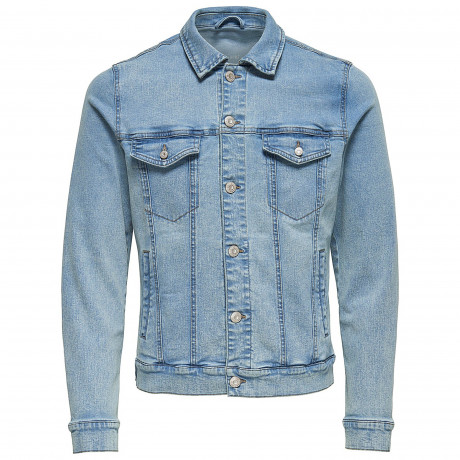 Only & Sons Coin Trucker Denim Jacket Blue Denim | Jean Scene