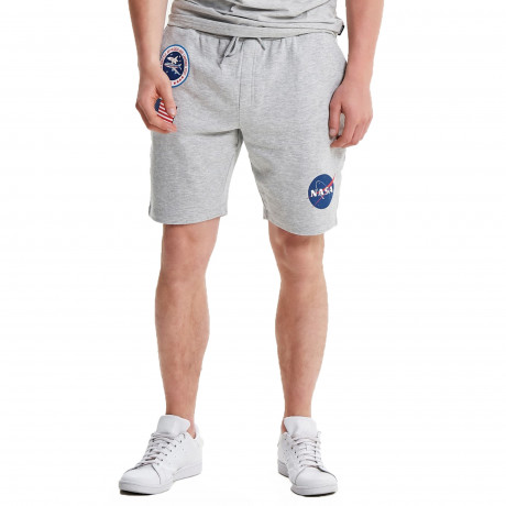 Only & Sons Men's Nasa Badge Sweat Jog Shorts Light Grey | Jean Scene