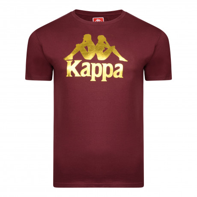 Kappa Estessi Logo T-Shirt Short Sleeve Red Dark Amaranto | Jean Scene